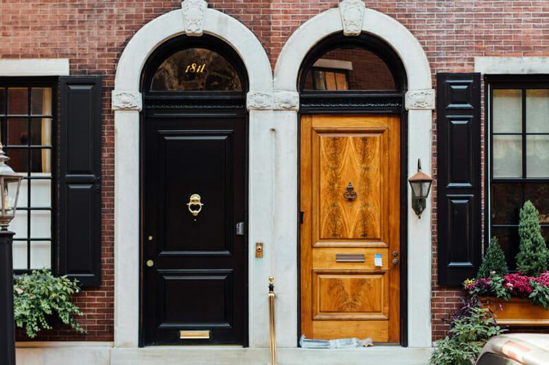 Black front door color