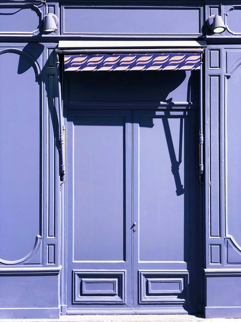Purple front door color. Does a witch live there?