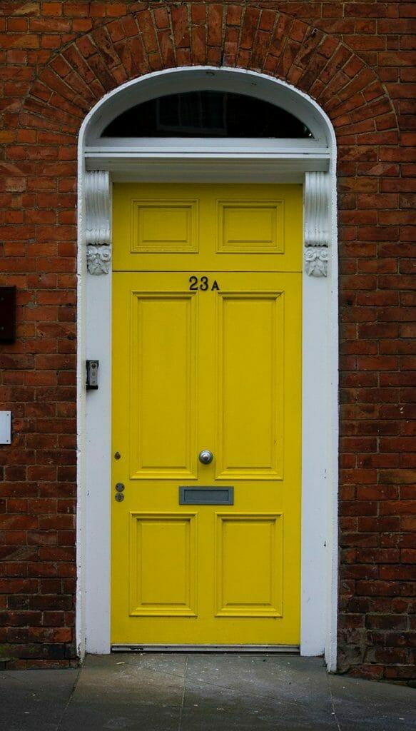 Yellow front door color